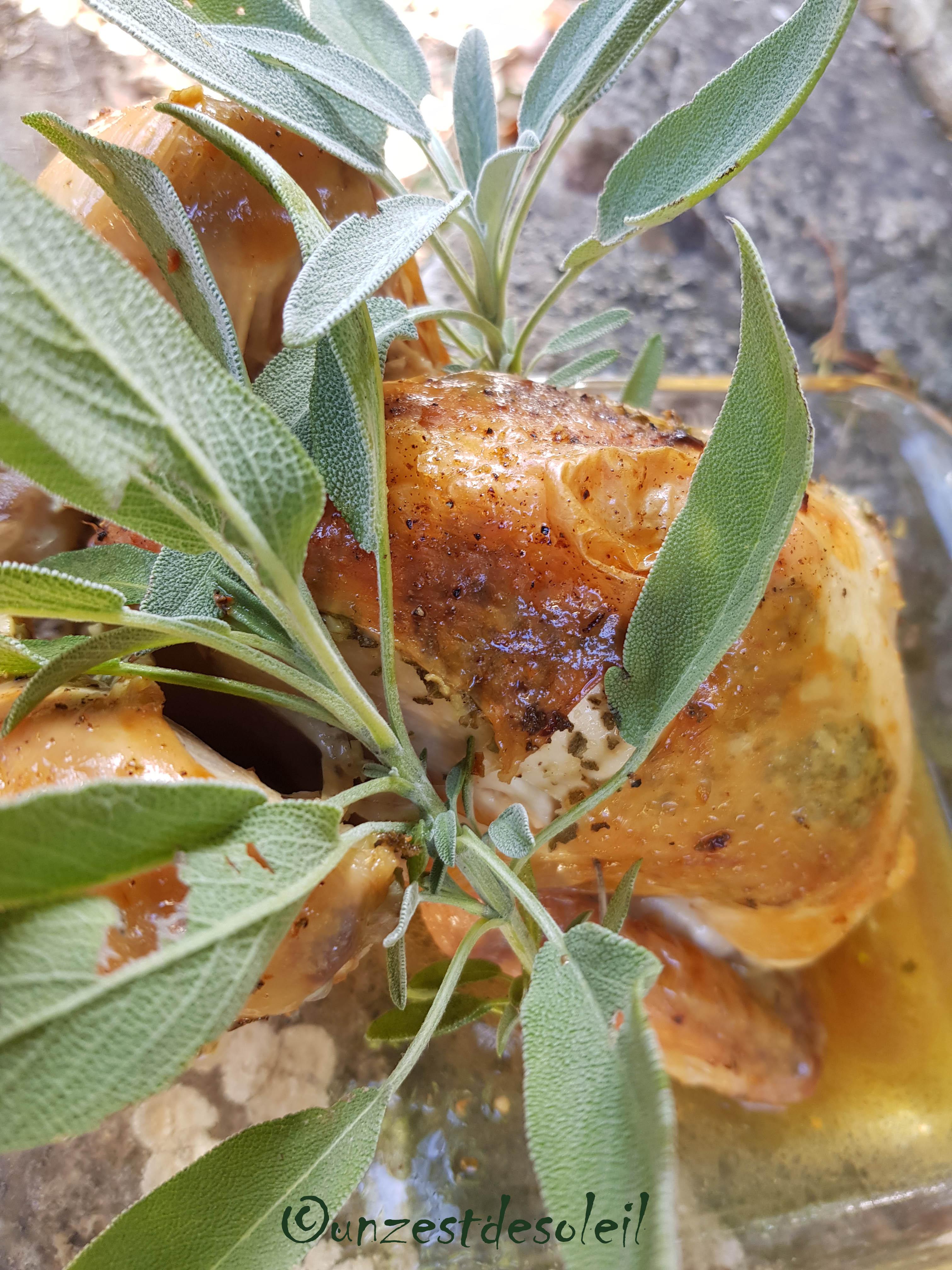 poulet grillébeurre de sauge 3